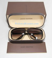 Louis Vuitton Evidence Sunglasses, Gold