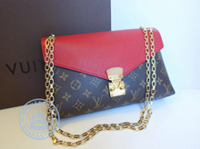 Louis Vuitton PALLAS CHAIN Handbag, Monogram Vanvas