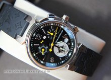 Louis Vuitton Tambour Lovely Cup Watch, Rubber Strap