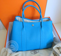 Hermes Garden Party 36 Handbag, in Blue